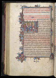 Historiated Initial With Three Bishops, In The Evesham Pontifical